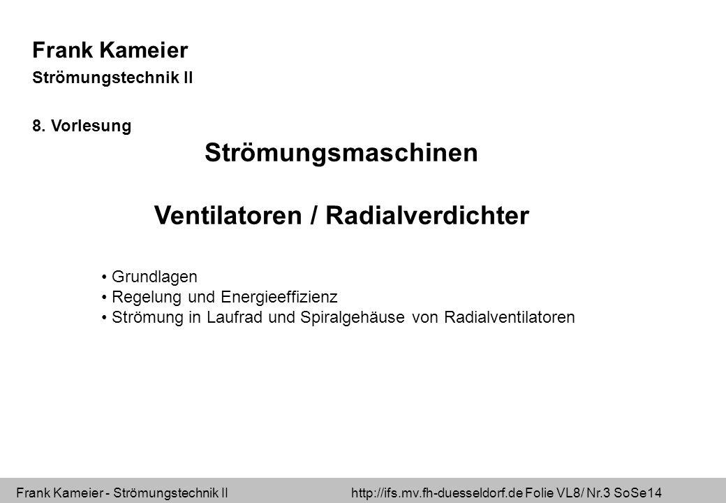 Ventilatoren / Radialverdichter