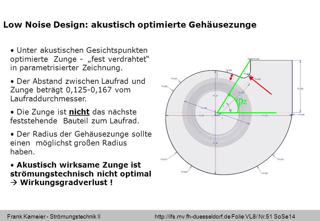 Low Noise Design: akustisch optimierte Gehäusezunge