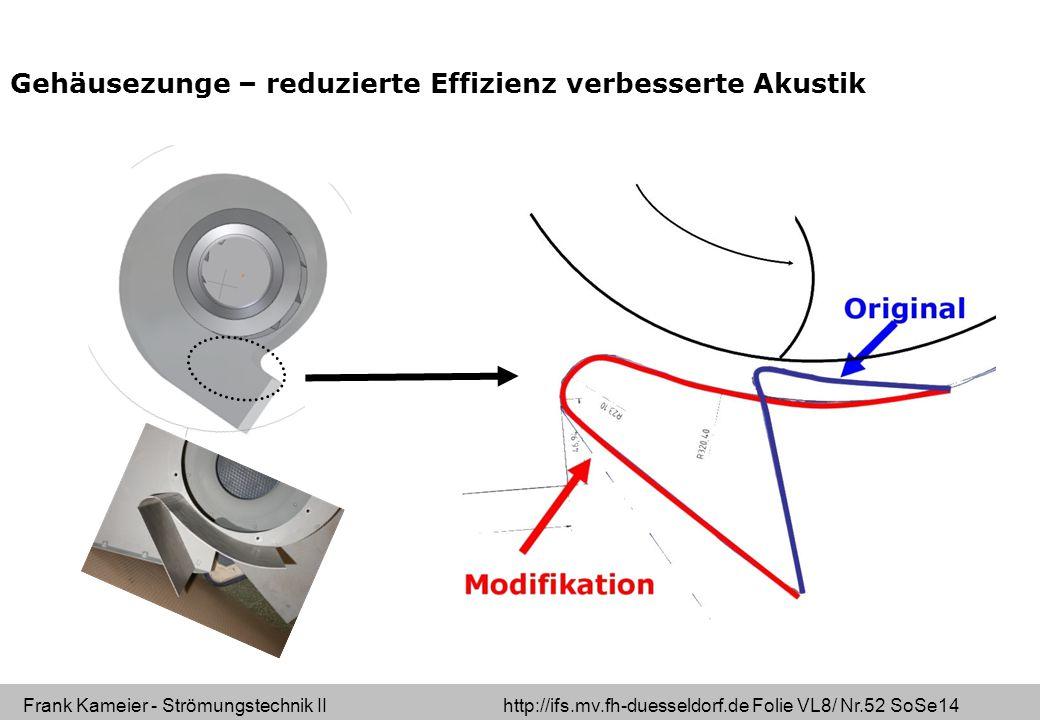 Gehäusezunge – reduzierte Effizienz verbesserte Akustik