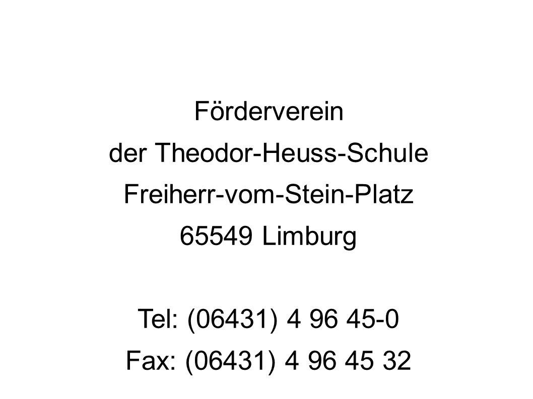 der Theodor-Heuss-Schule Freiherr-vom-Stein-Platz 65549 Limburg
