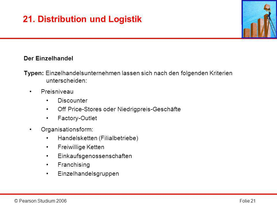 21. Distribution und Logistik