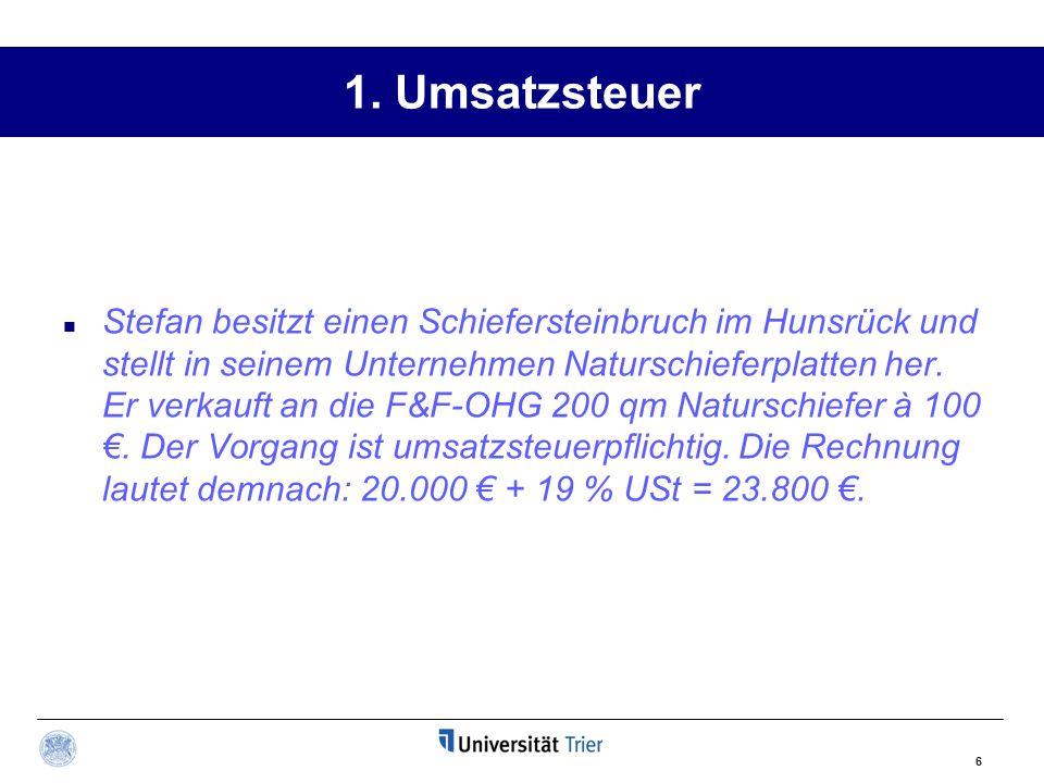 1. Umsatzsteuer