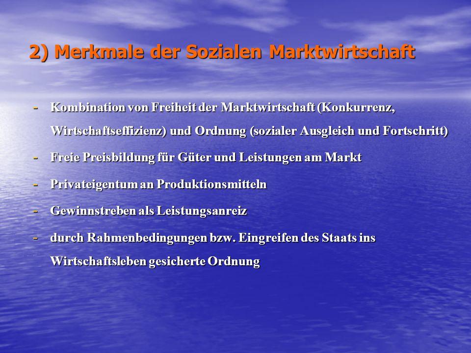 2) Merkmale der Sozialen Marktwirtschaft