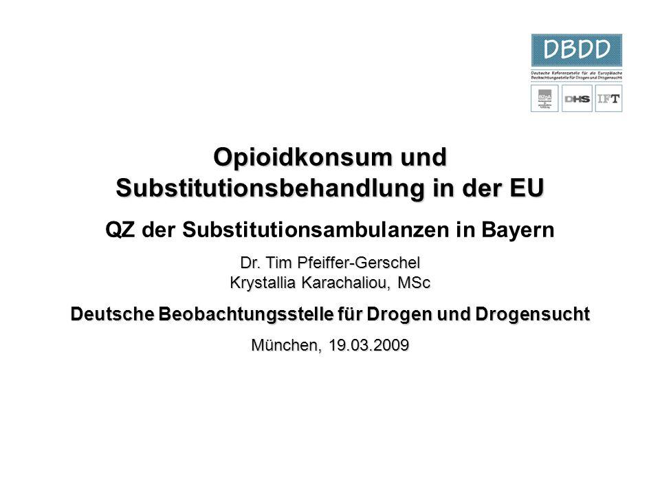 Opioidkonsum und Substitutionsbehandlung in der EU