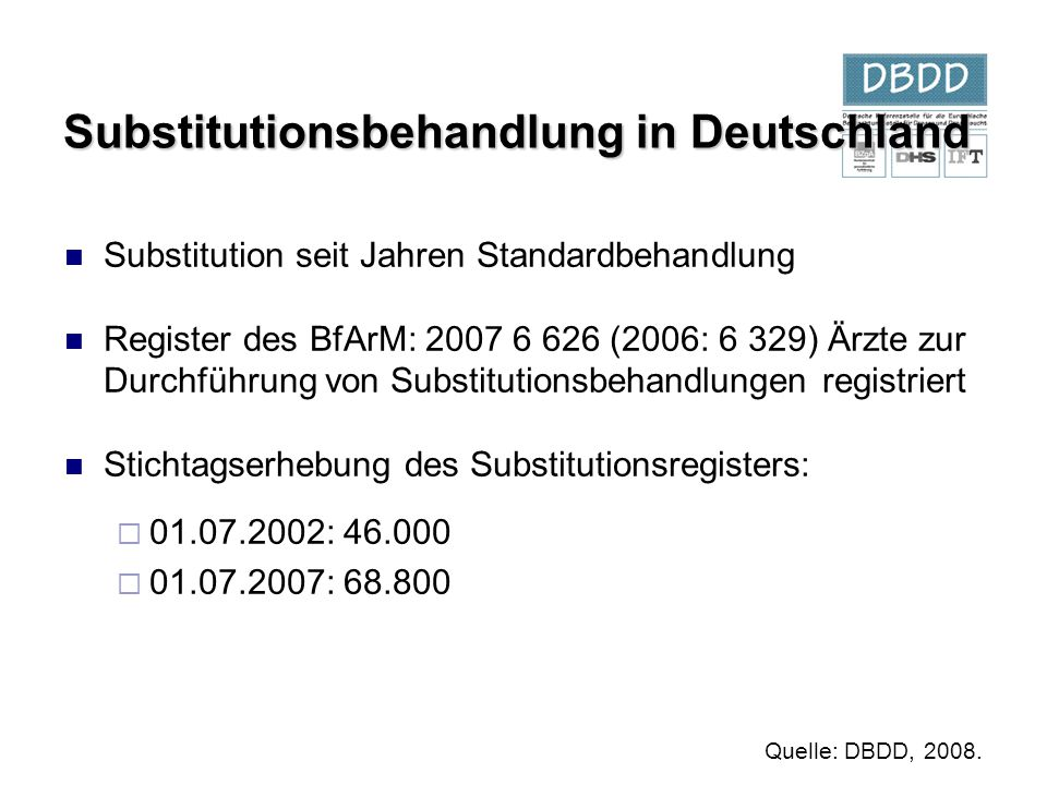 Substitutionsbehandlung in Deutschland
