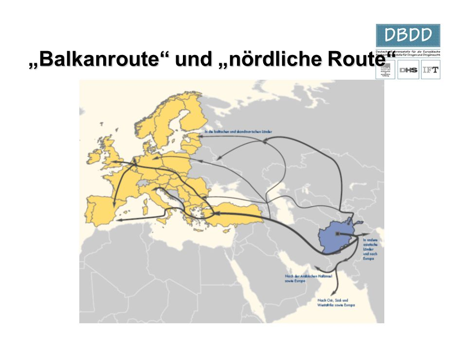 """Balkanroute und ""nördliche Route"