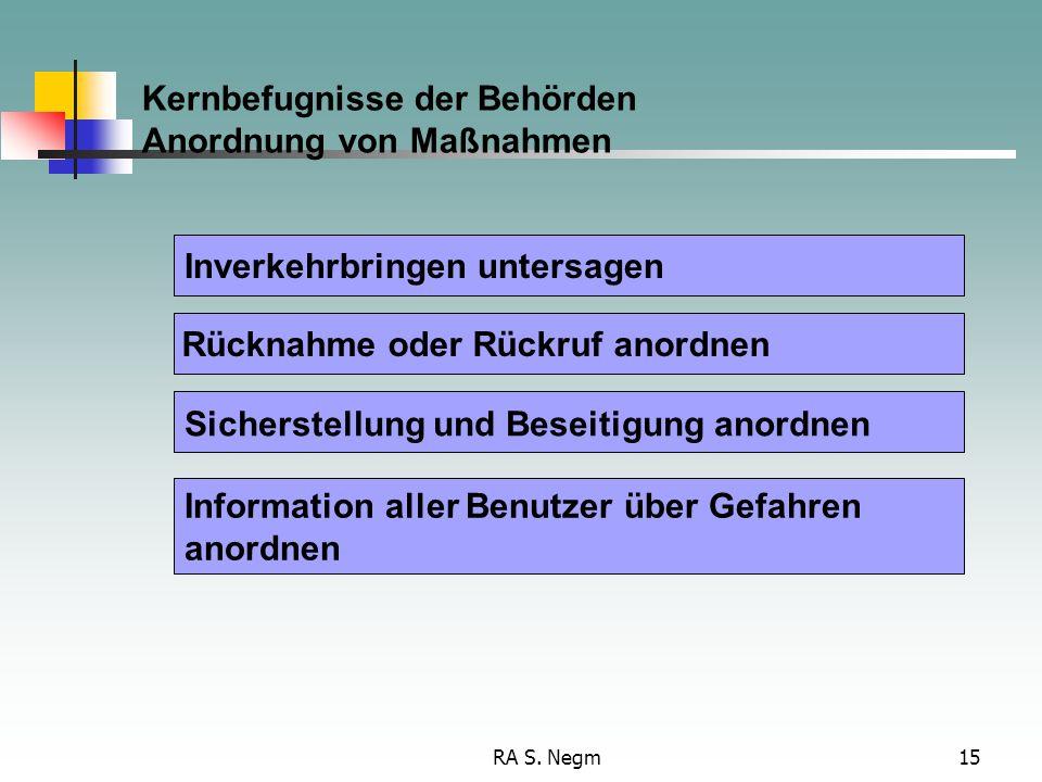 Kernbefugnisse der Behörden Anordnung von Maßnahmen