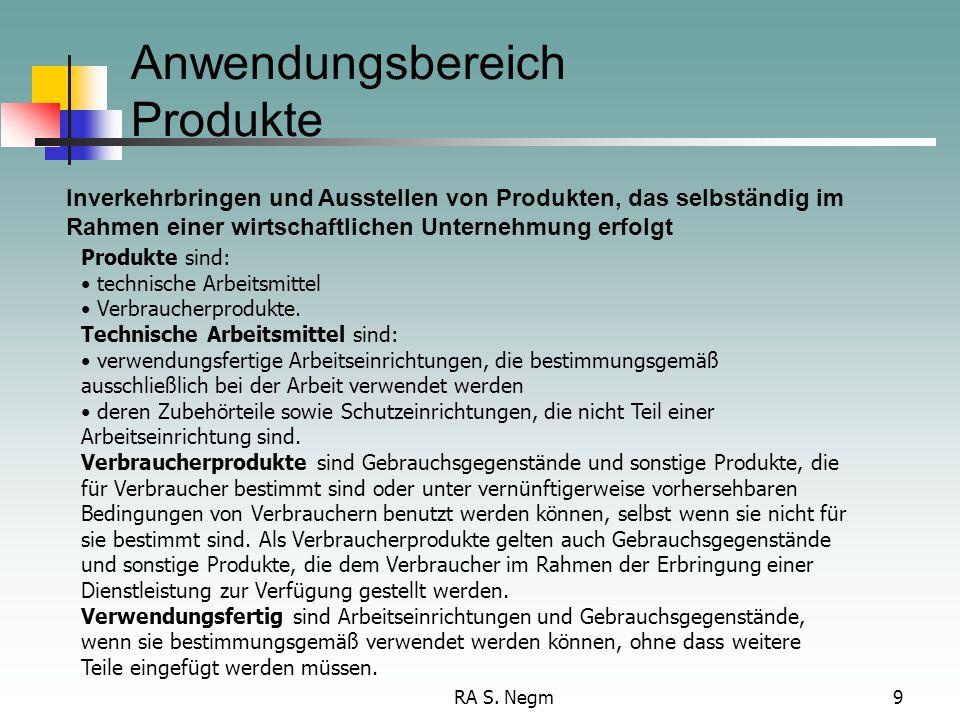 Anwendungsbereich Produkte