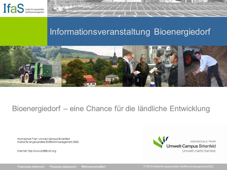 Informationsveranstaltung Bioenergiedorf