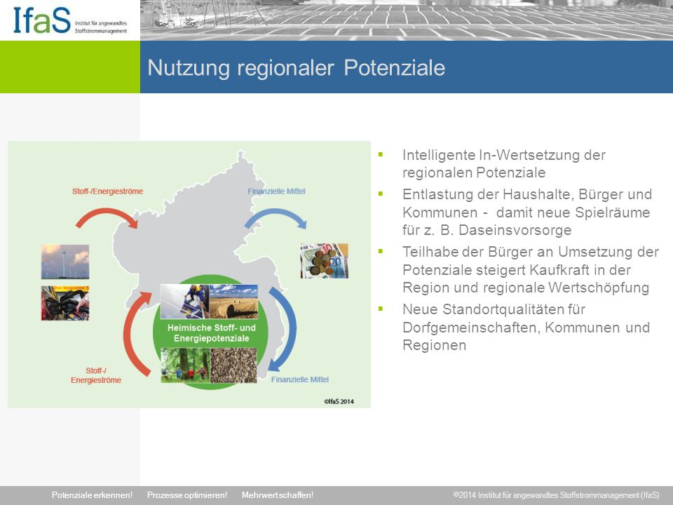 Nutzung regionaler Potenziale