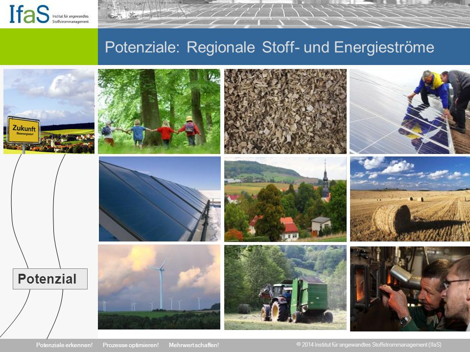 Potenziale: Regionale Stoff- und Energieströme