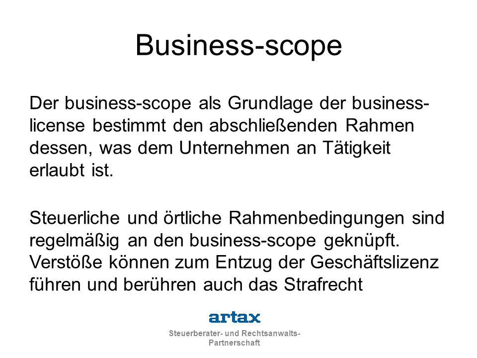 Business-scope