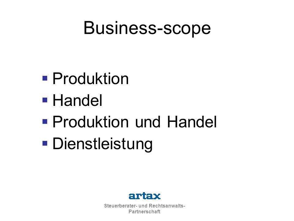 Business-scope Produktion Handel Produktion und Handel Dienstleistung