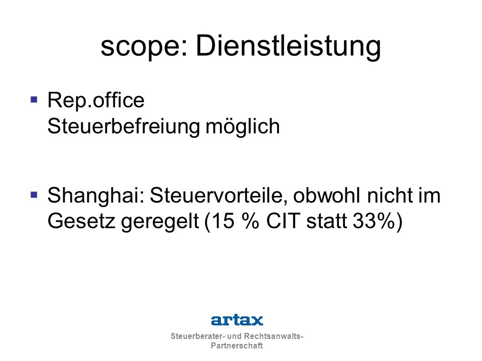scope: Dienstleistung