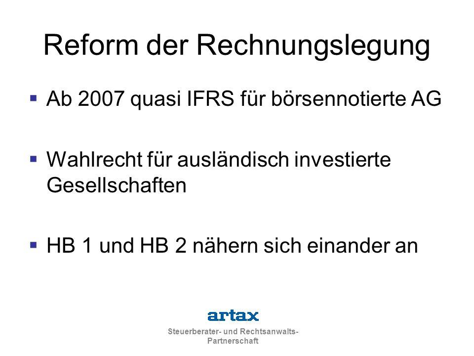 Reform der Rechnungslegung