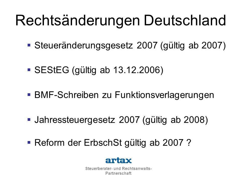 Rechtsänderungen Deutschland