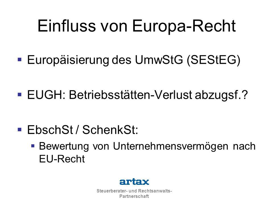 Einfluss von Europa-Recht