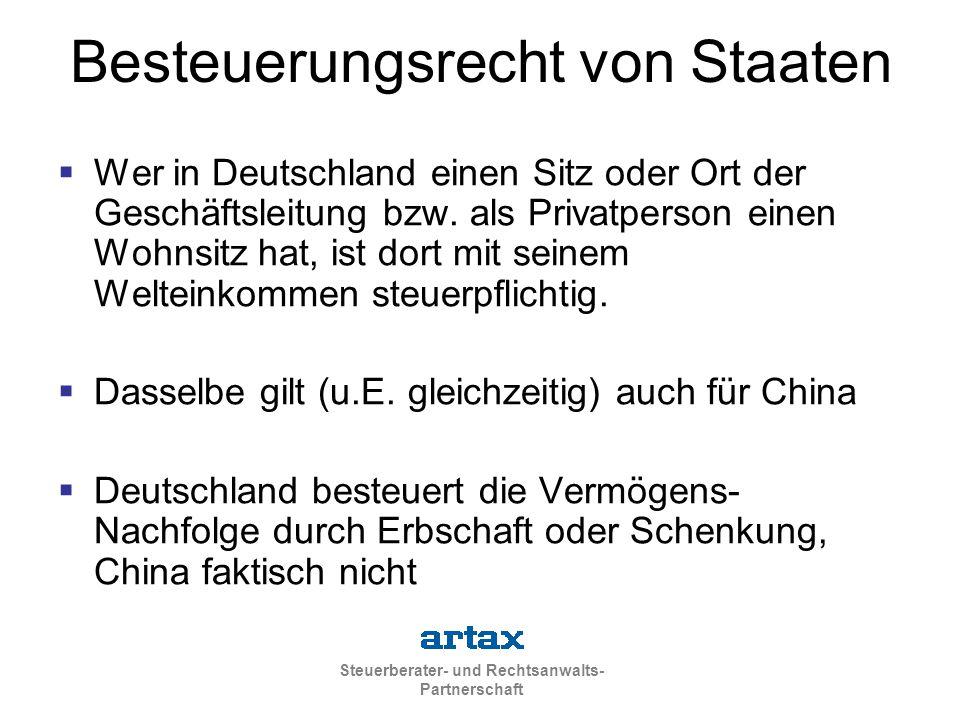Besteuerungsrecht von Staaten