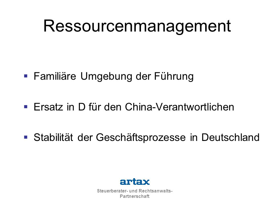 Ressourcenmanagement