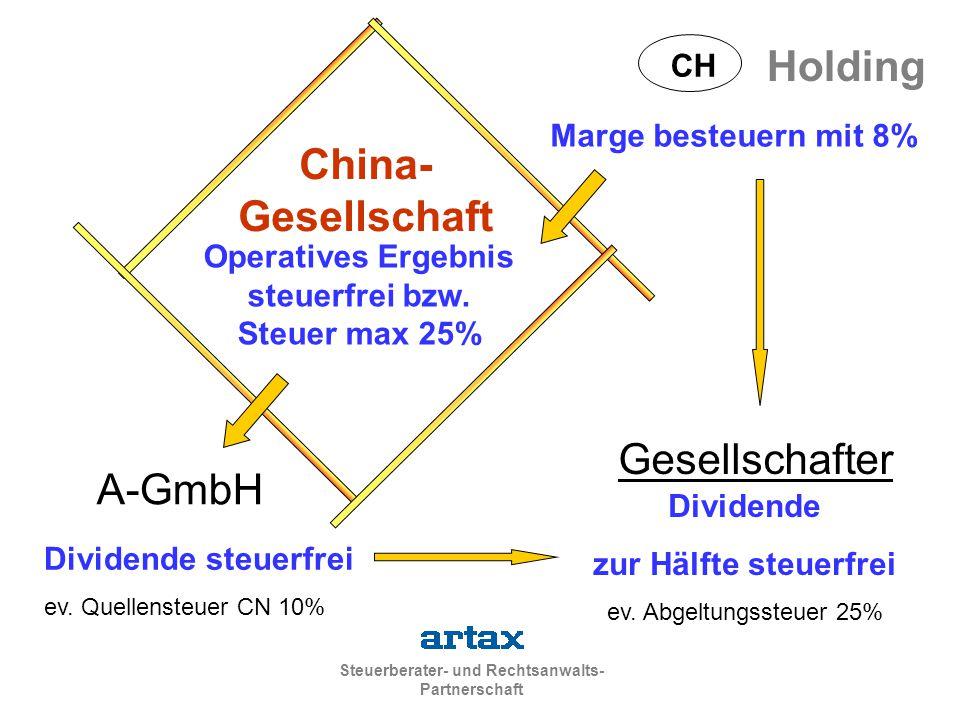Operatives Ergebnis steuerfrei bzw. Steuer max 25%