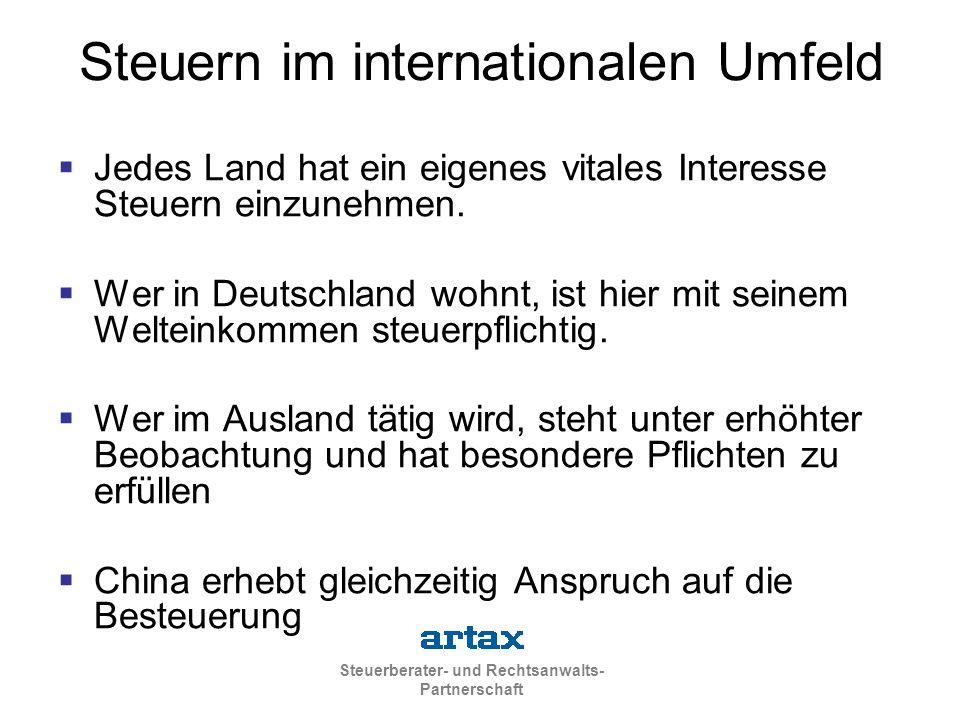 Steuern im internationalen Umfeld