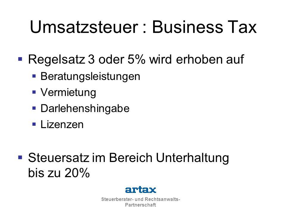 Umsatzsteuer : Business Tax