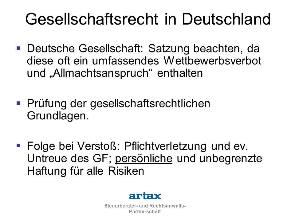 Gesellschaftsrecht in Deutschland