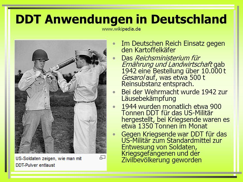 DDT Anwendungen in Deutschland www.wikipedia.de