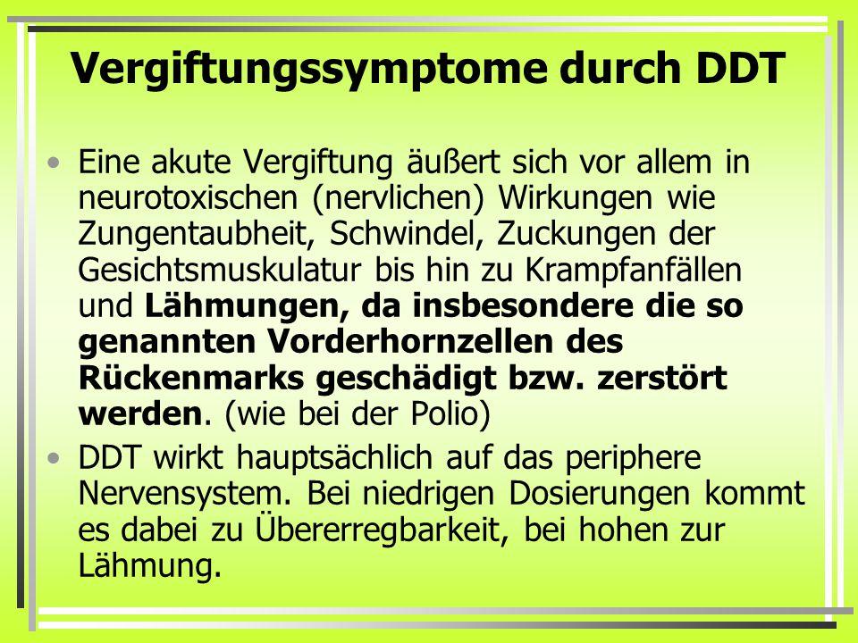 Vergiftungssymptome durch DDT