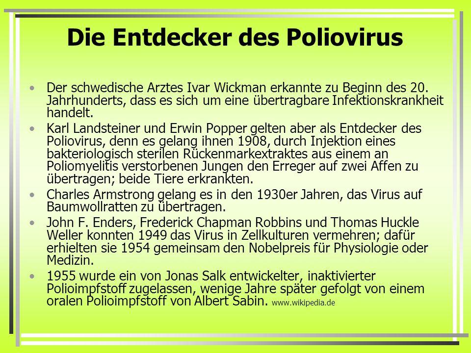 Die Entdecker des Poliovirus