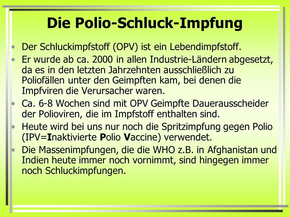 Die Polio-Schluck-Impfung