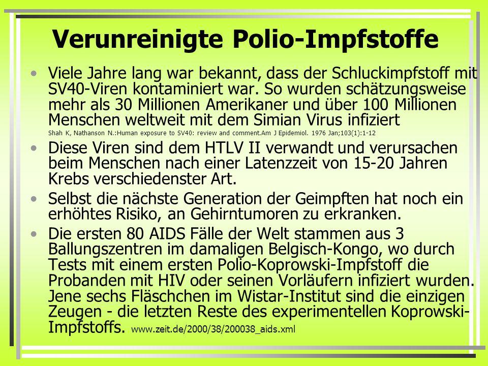 Verunreinigte Polio-Impfstoffe