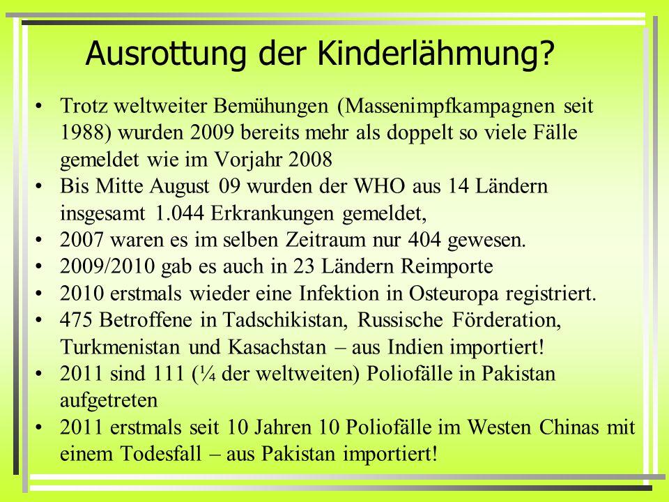 Ausrottung der Kinderlähmung