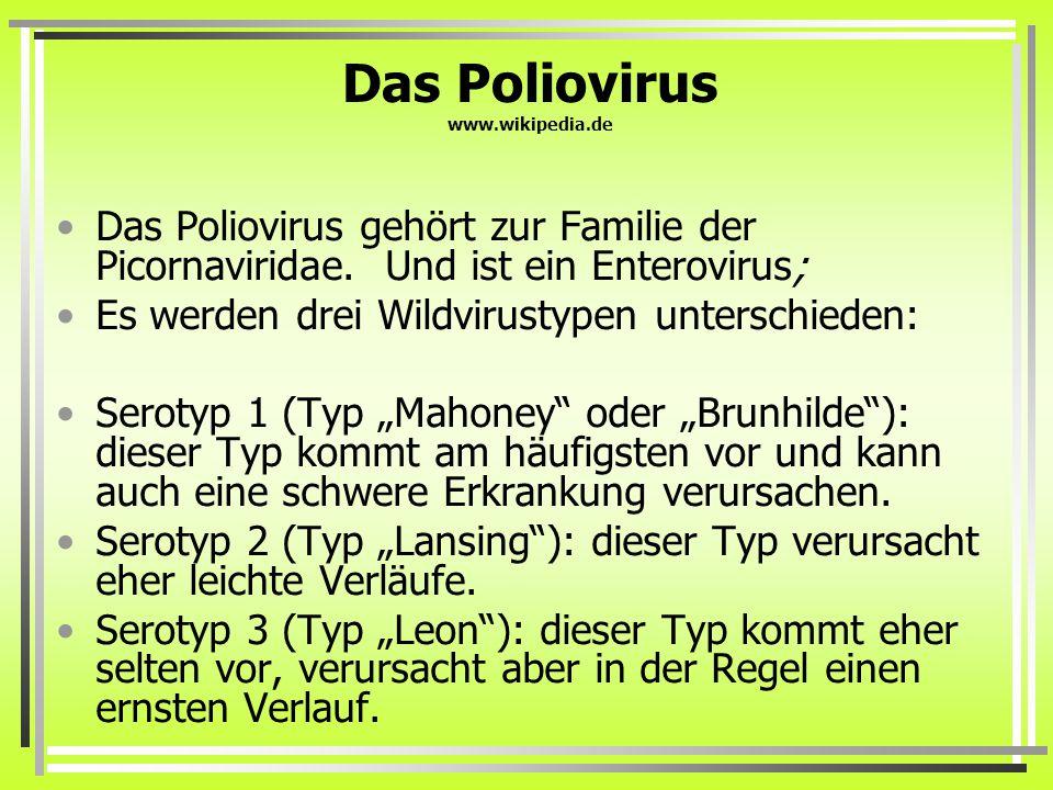 Das Poliovirus www.wikipedia.de