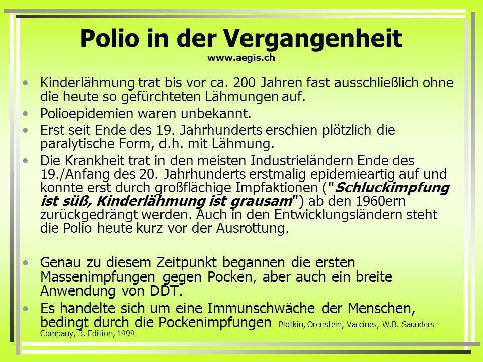 Polio in der Vergangenheit www.aegis.ch