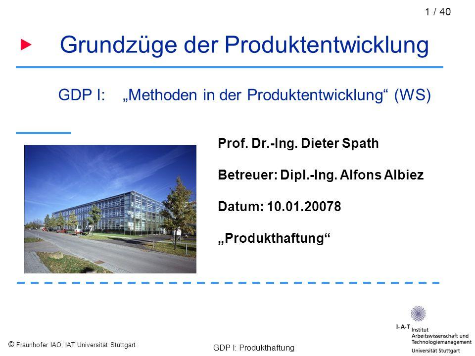 Grundzüge der Produktentwicklung
