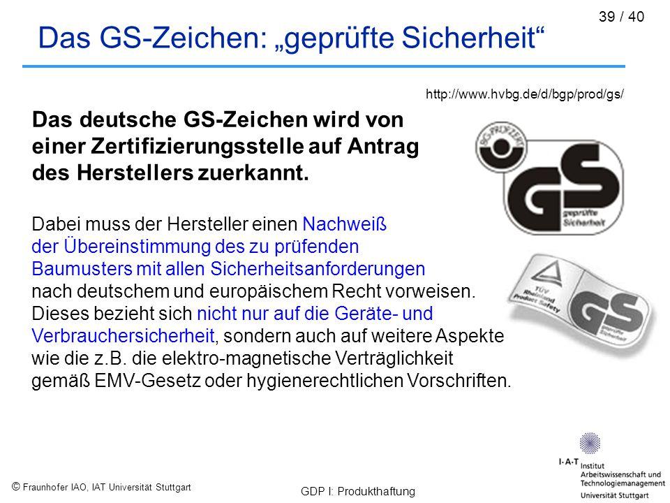 """Das GS-Zeichen: """"geprüfte Sicherheit"""