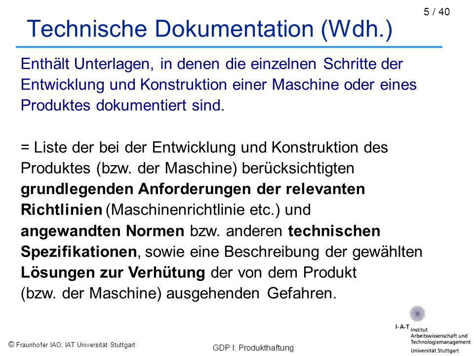 Technische Dokumentation (Wdh.)