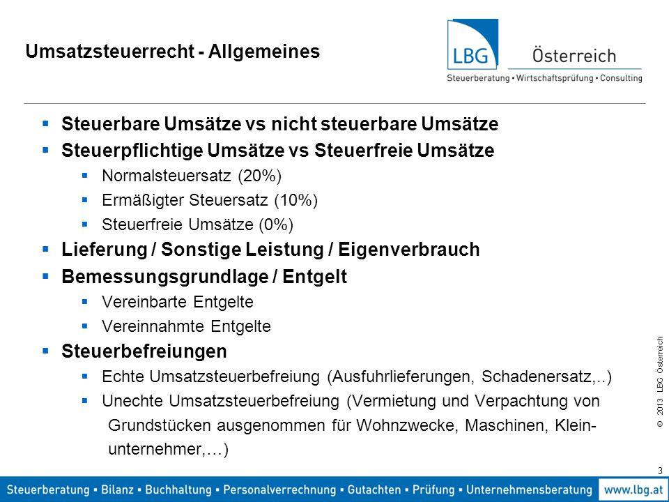 Umsatzsteuerrecht - Allgemeines