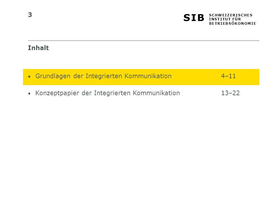 Inhalt Grundlagen der Integrierten Kommunikation 4–11.
