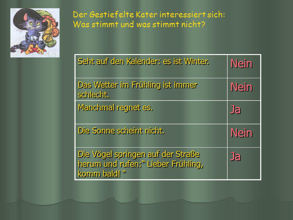 Nein Ja Nein Ja Der Gestiefelte Kater interessiert sich: