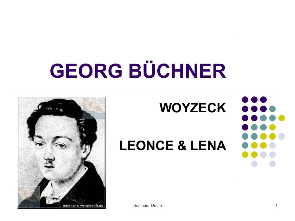 GEORG BÜCHNER WOYZECK LEONCE & LENA Bernhard Bosio