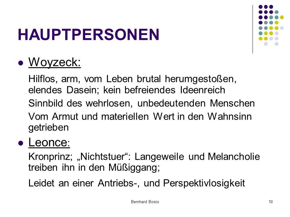 HAUPTPERSONEN Woyzeck: