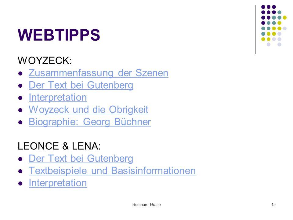 WEBTIPPS WOYZECK: Zusammenfassung der Szenen Der Text bei Gutenberg