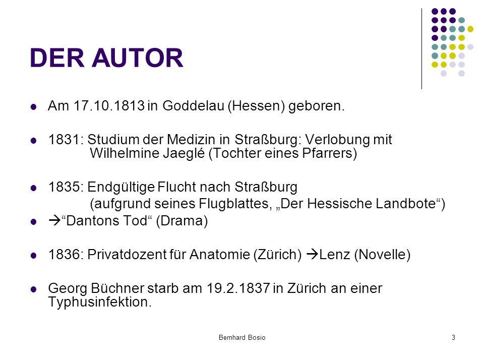 DER AUTOR Am 17.10.1813 in Goddelau (Hessen) geboren.