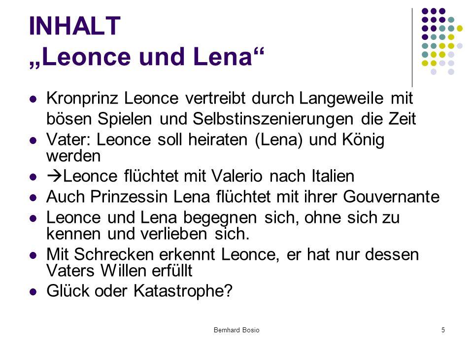 """INHALT """"Leonce und Lena"""