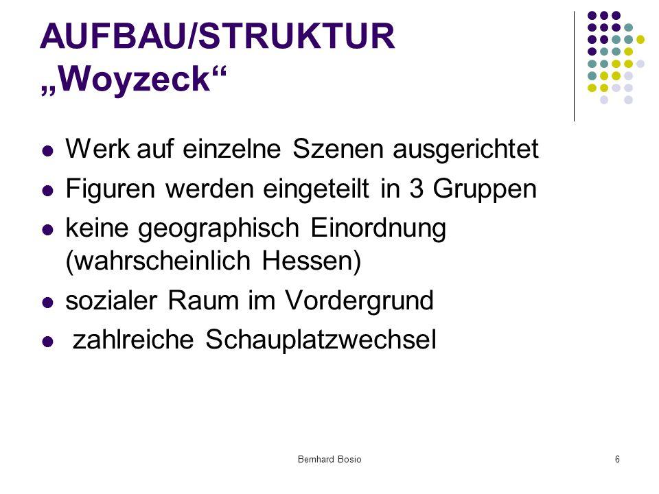 """AUFBAU/STRUKTUR """"Woyzeck"""