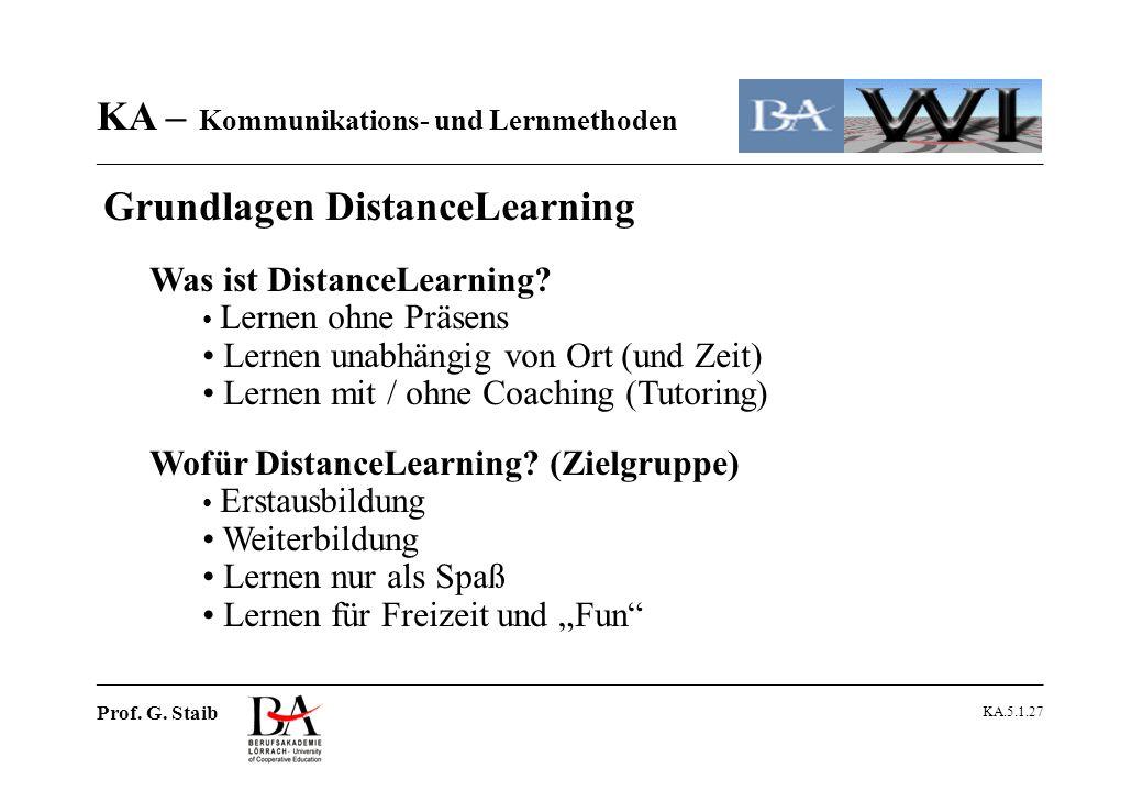 Was ist DistanceLearning Lernen unabhängig von Ort (und Zeit)
