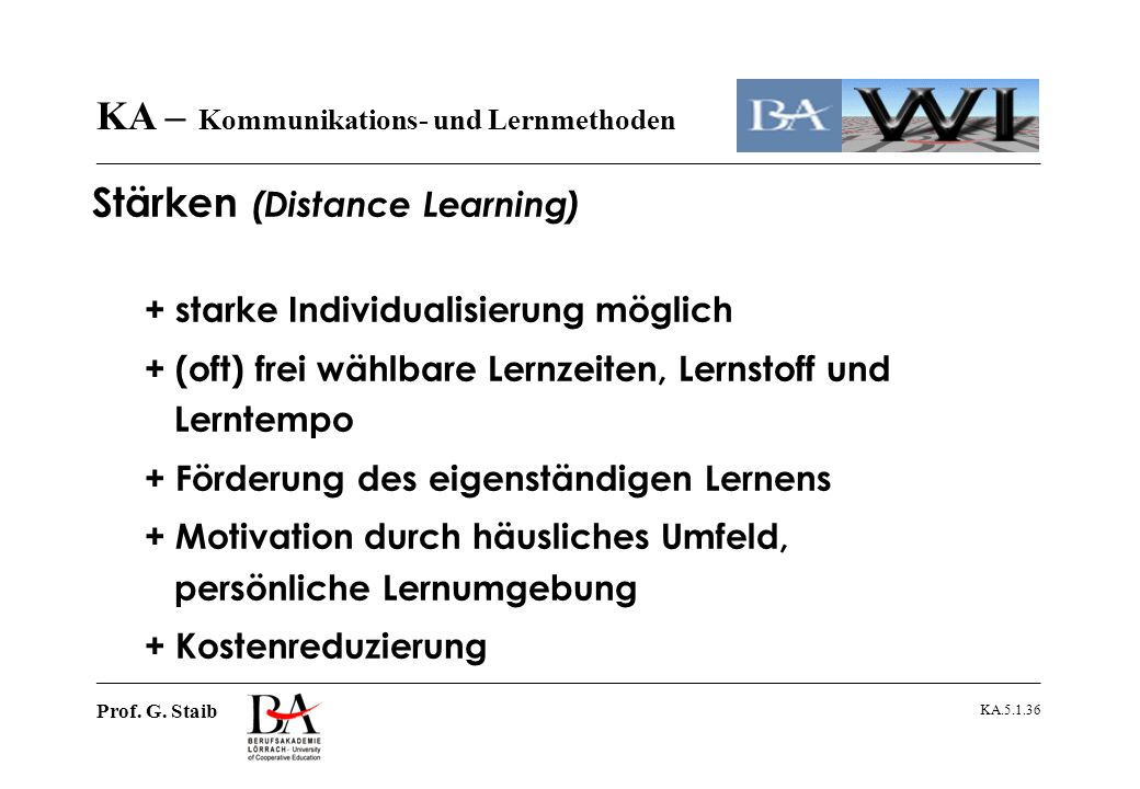 Stärken (Distance Learning)