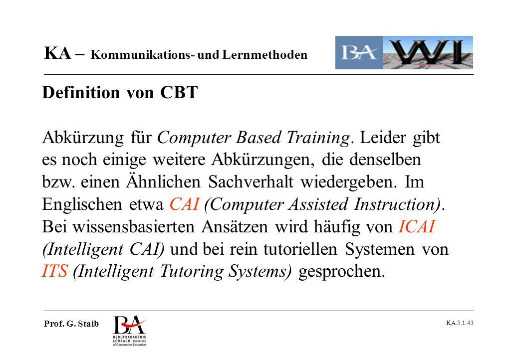 Definition von CBT